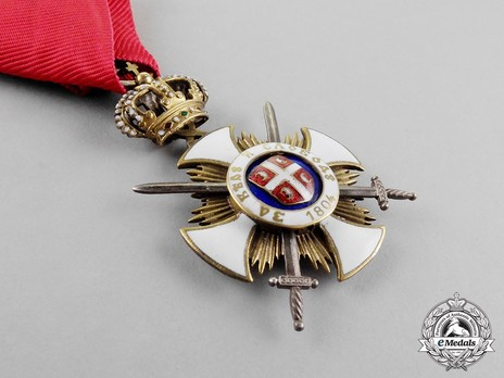 Order of the Star of Karageorg, Military Division, IV Class Obverse