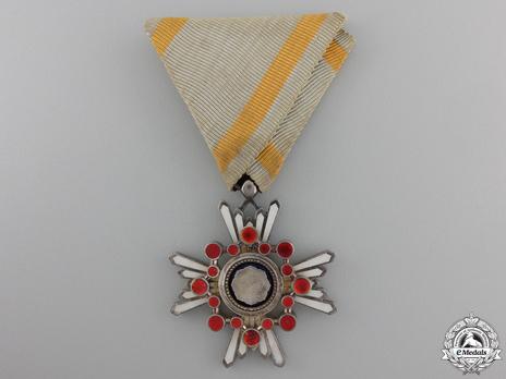 Order of the Sacred Treasure, VI Class Obverse