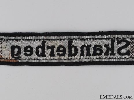 Waffen-SS Skanderbeg Cuff Title Reverse