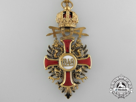 Type II, Military Division, Commander (with gold swords) Reverse