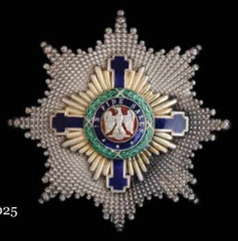 The Order of the Star of Romania, Type I, Civil Division, Grand Cross Breast Star Obverse
