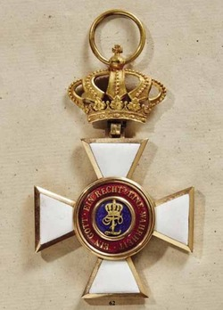 House Order of Duke Peter Friedrich Ludwig, Civil Division, Grand Cross (with golden crown, 1841-1918)