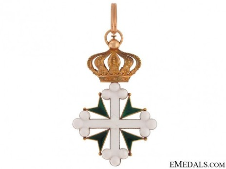 Order of St Maurice and St. Lazarus, Grand Officer's Cross (in gold) Reverse