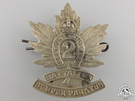 2nd Infantry Battalion Other Ranks Cap Badge Obverse