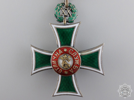 Long Service Cross, Type II, I Class, for 20 Years Obverse