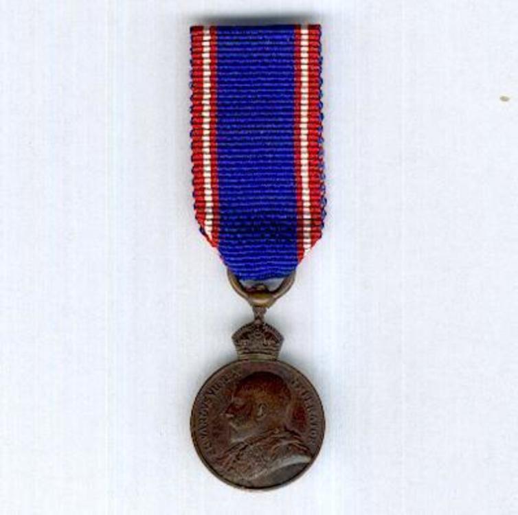 Miniature bronze medal 1901 1910 obverse