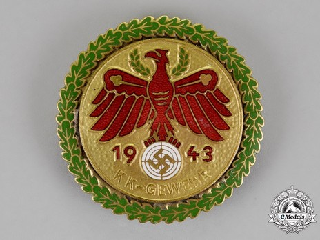 Tyrolean Marksmanship Gau Achievement, Type VI, Champion Badge (for small calibre rifle) Obverse