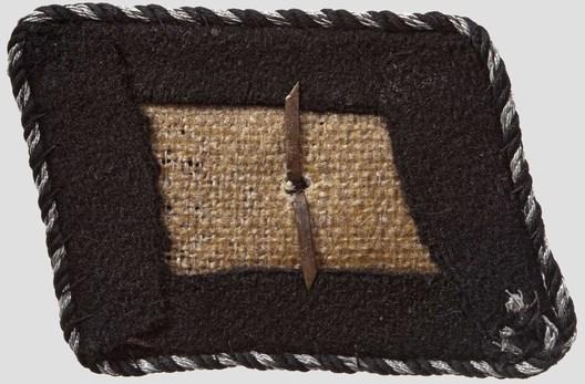 Waffen-SS Unterscharführer Collar Tabs Reverse