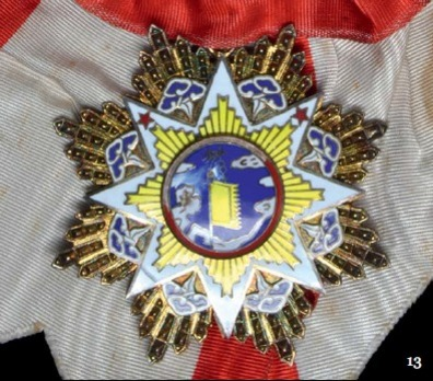 Order of the Cloud and Banner, II Class Sash Badge