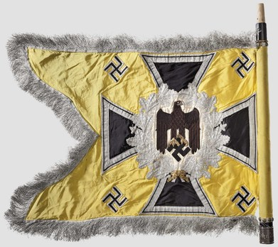 German Army General Army Unit Flag (Signal troops Motorized and Mounted version) Reverse
