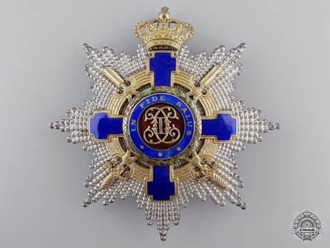 The Order of the Star of Romania, Type II, Military Division, Grand Cross Breast Star Obverse