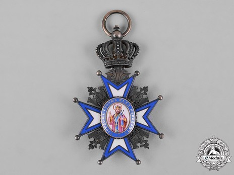 Order of Saint Sava, Type I, V Class Obverse