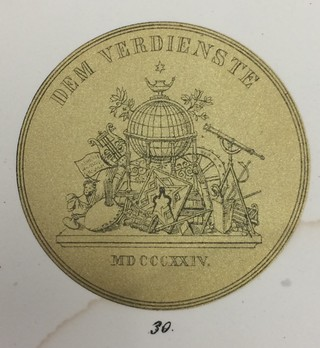 """Medal for the Arts and Sciences, Type II, in Large Gold (stamped """"C.VOIGT"""")"""