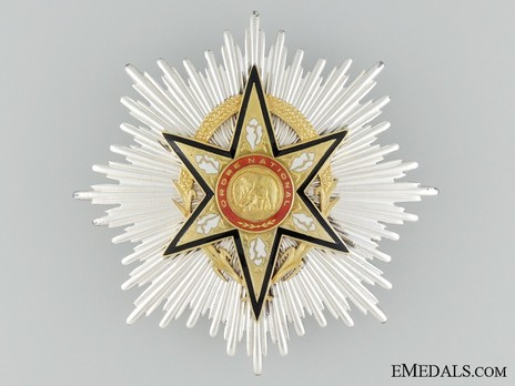 National Order of Upper Volta, Grand Cross Breast Star Obverse