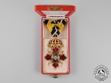 Order of Military Merit, IV Class Case of Issue Obverse