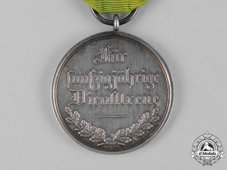 Medal for 50 Years of Faithful Service Reverse