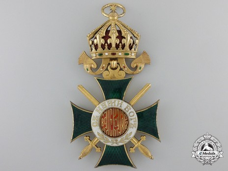 Order of St. Alexander, Type II, I Class (with swords) Obverse