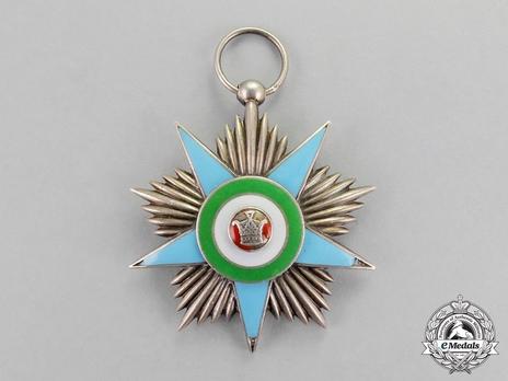 Order of Glory (Nishan-i-Iftikhar), Silver Star (by Huguenin) Obverse