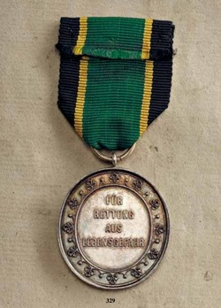 Life Saving Medal, in Silver