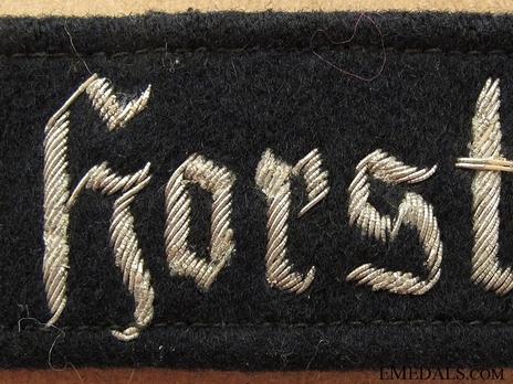 Luftwaffe Geschwader Horst Wessel Cuff Title (Officer version) Obverse Detail
