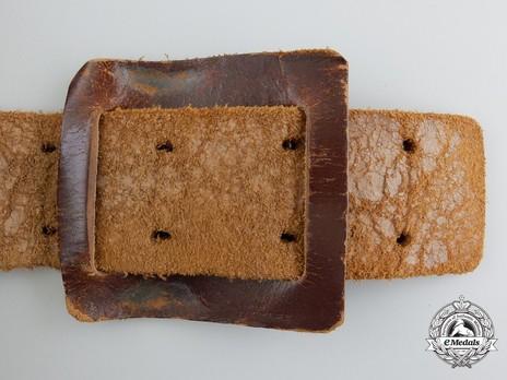 Luftwaffe Brown Leather Belt Strap Reverse