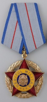 Order of Military Merit, I Class Medal (for 25 Years, 1965-1989) Obverse