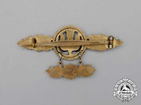 Bomber Clasp, in Gold (with star pendant) Reverse