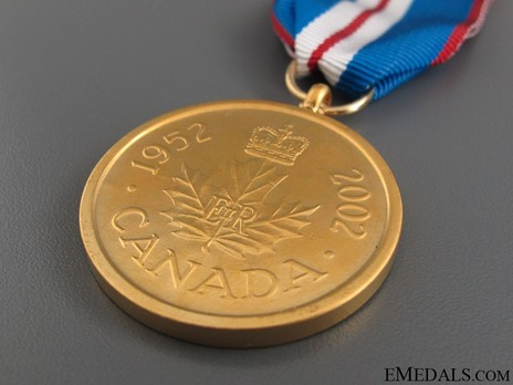 Queen Elizabeth II Golden Jubilee Medal (Gold-Plated Cupro-Nickel) Reverse