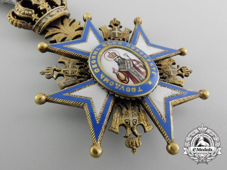 Order of Saint Sava, Type I, IV Class Obverse