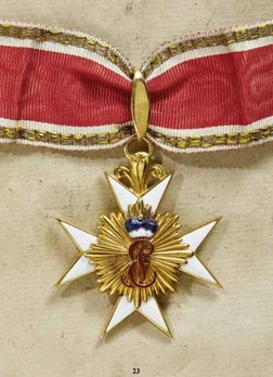 House Order of the Golden Flame, Cross (in gold)
