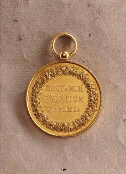 "Merit Medal ""DOCTARVM FRONTIVM PRAEMIA"", in Gold (stamped ""BARRE F."")"