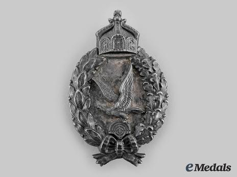 Air Gunner Badge, by C. E. Juncker (in silvered brass, marked) Obverse