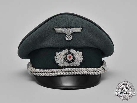 German Army Engineer Officer's Visor Cap Front