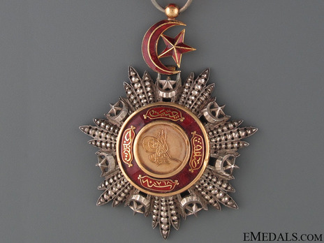 Order of Medjidjie, Civil Division, IV Class Obverse