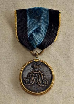 Military Long Service Decoration, 1850, Bronze Medal for 9 Years