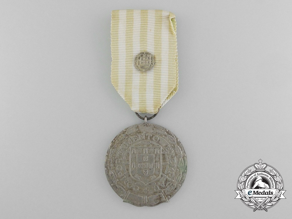 Silver medal for 15 years with national crest clasp 1971 obverse 1