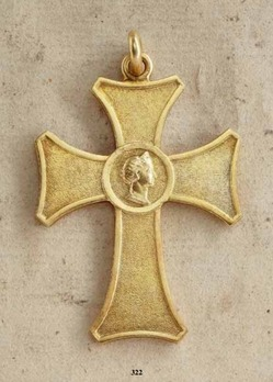 "Honour Decoration for Female Domestic Servants, Gold Cross (stamped ""FOEHR"")"