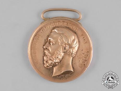 Civil Merit Medal in Gold, Medium, Type VI (1857-1860)
