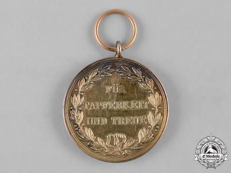 Military Merit Medal, Type V, in Gold (in bronze gilt) Reverse