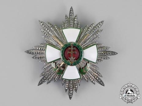 Hungarian Order of Merit, Grand Cross Breast Star, Military Division