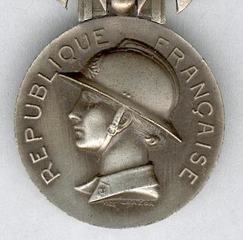 "Silver Medal (for Bravery, stamped ""1935 L BAZOR,"" 1935-1981) Obverse"
