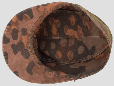 Waffen-SS Camouflaged Field Cap (Lateral Plane Tree pattern) Interior