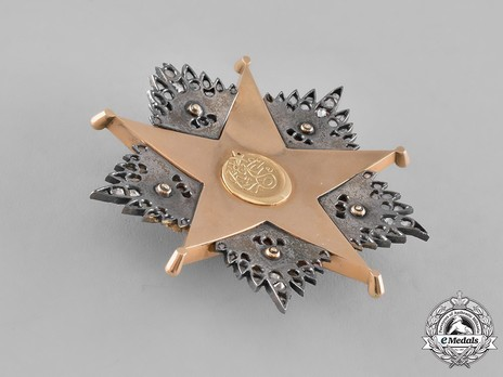 Order of Nishani-Shefkat, I Class Breast Star Reverse