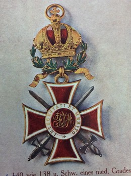 Order of Leopold, Type III, Military Division, Grand Cross (with silver swords)