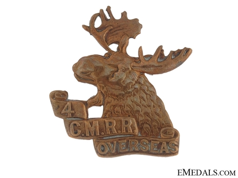 4th Mounted Rifle Battalion Other Ranks Cap Badge Obverse