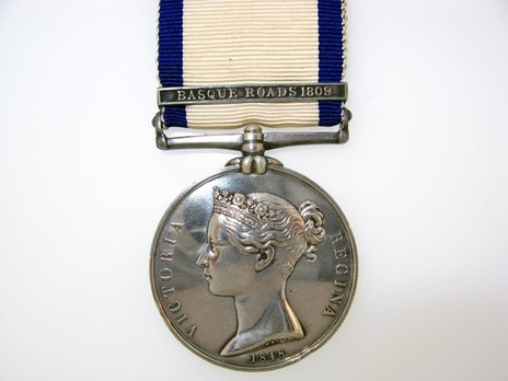 "Silver Medal (with ""BASQUE ROADS 1809"" clasp) Obverse"