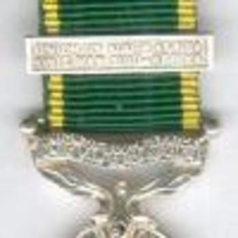 Miniature Silver Medal  (with 1 clasp) Clasp