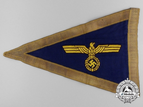 Kriegsmarine Service Pennant (Admiral version) Reverse