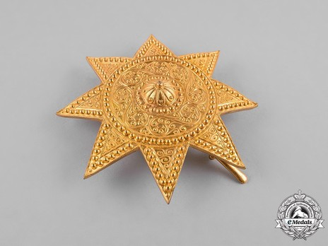 Order of the Star of Ethiopia, Grand Officer Breast Star (in Bronze gilt) Reverse