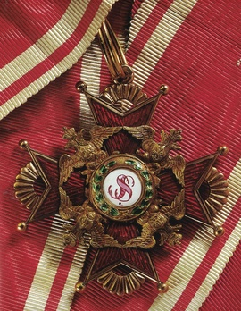 Order of Saint Stanislaus, Type I, Civil Division, II Class Cross (in gold) Obverse